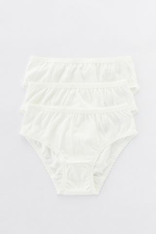 Girls Organic Cotton 3In1 Slip Bottom