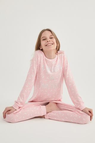 Set Pijama Teen Unicorn Termal 2Buc