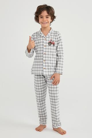 Set Pijama Băieți Tractor
