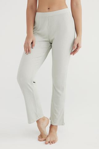 Pantaloni Light Mint Rib