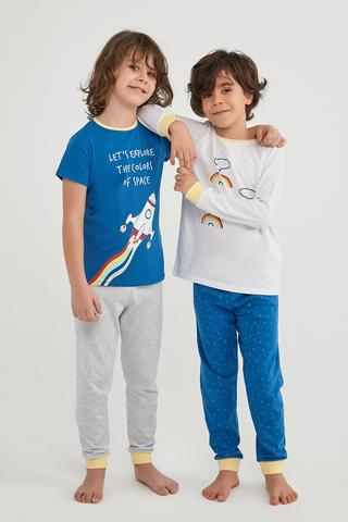 Boys Colorful Space 4In1 PJ Set
