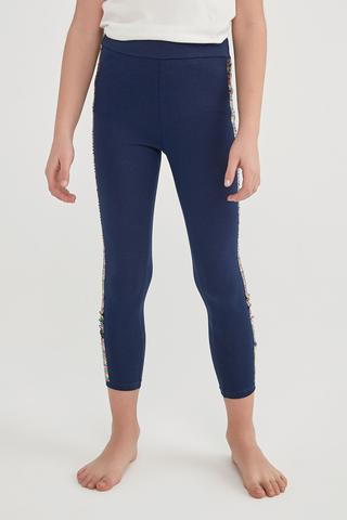 Girls Sequin Trimmed Legging