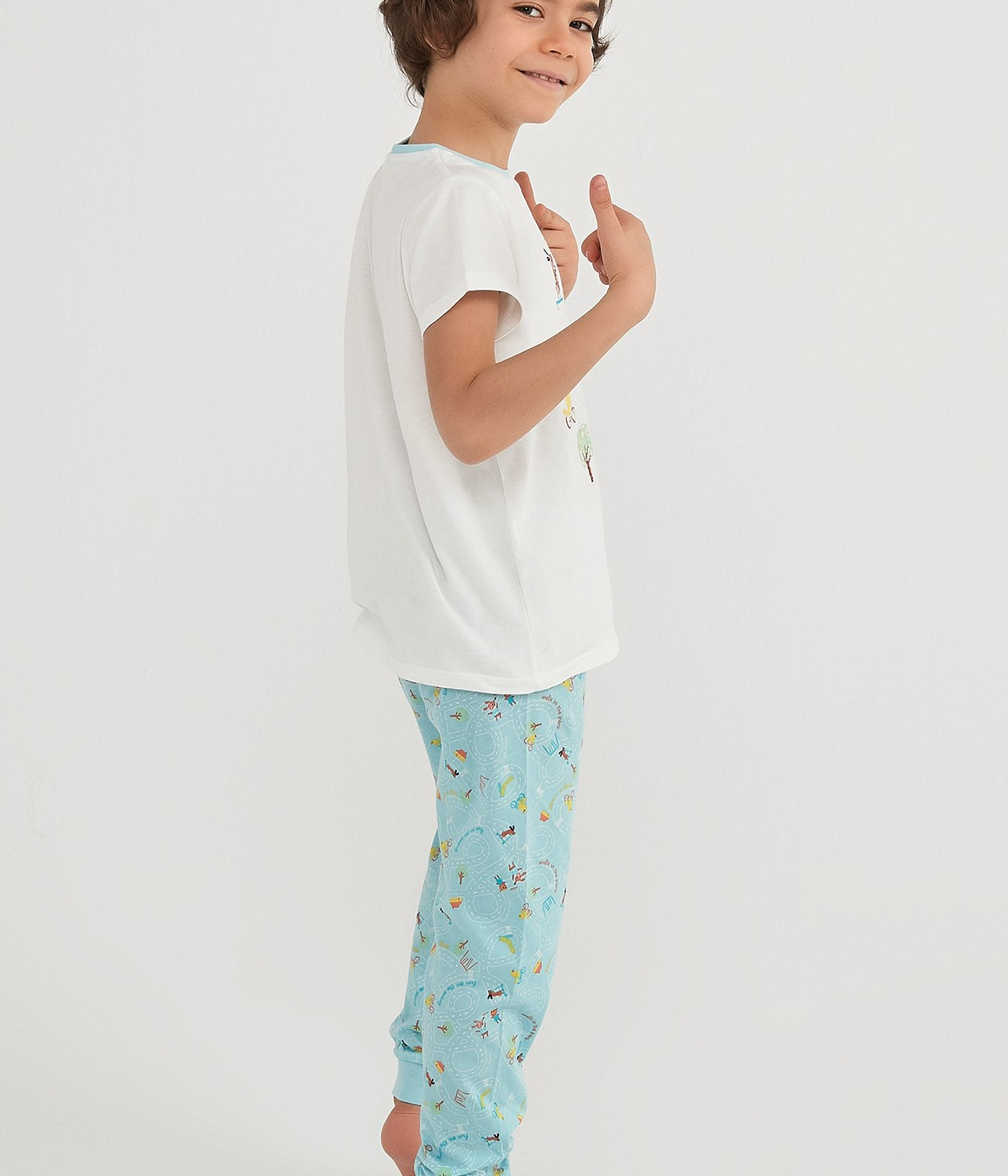 Set Pijama Băieți Play Buddies 4 Buc