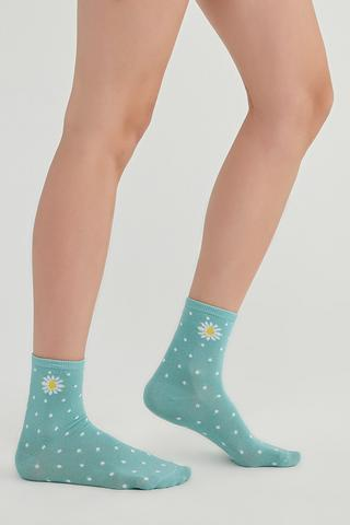 Dot Daisy 2In1 Socks