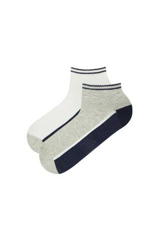 Set Șosete Scurte Bărbătești Sporty Stripe 2 Buc