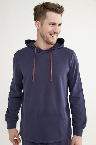 Sweatshirt Navy Hood