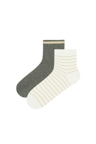 Shiny Stripe 2Li Socks