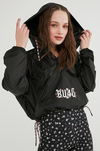Bu4U Oversize Crop Raincoat