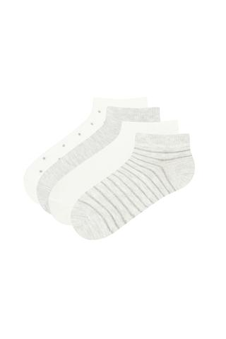 Girls Shımmer 4In1 Liner Socks