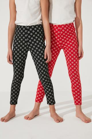 Girls 2In1 Star Legging