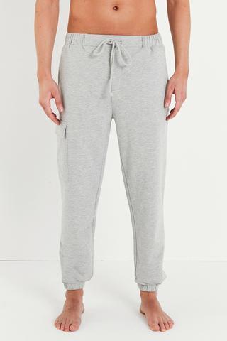 Grey Pocket Cuff Pantaloni