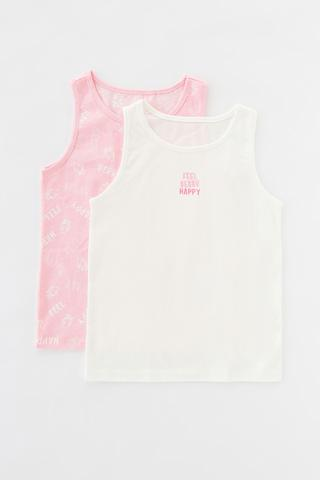 Girls Strawhappy 2In1 Cami