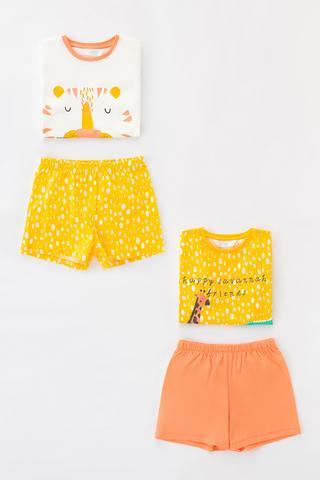 Girls Savannah Friends  4In1 Pj Set