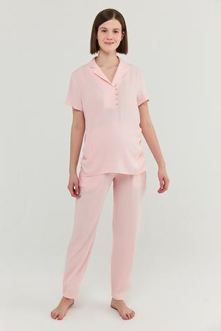 Set Pijama Mama Pink Crinkle