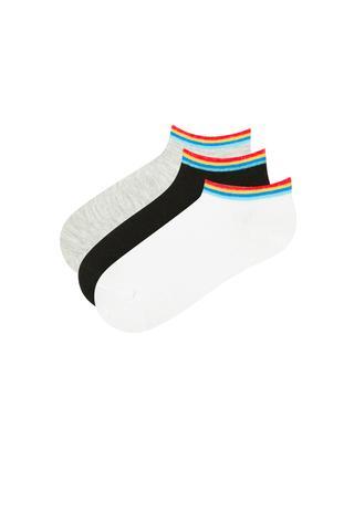 Boys Classic Stripe 3In1 Liner Socks