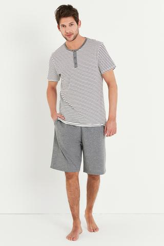 Set Pijama Grey Stripe
