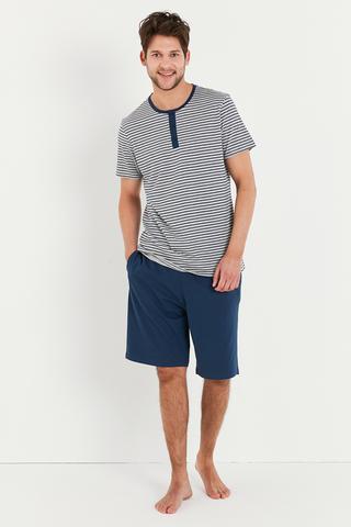 Set Pijama Navy Stripe