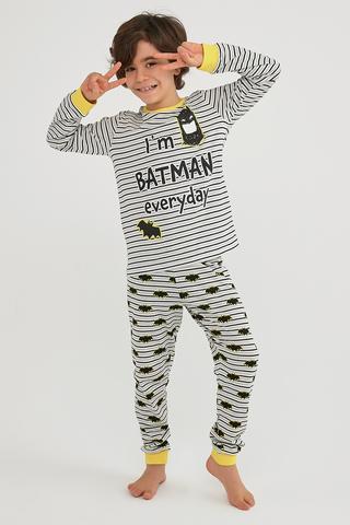 Boys Lic Batman Ls 2In1 Pj Set