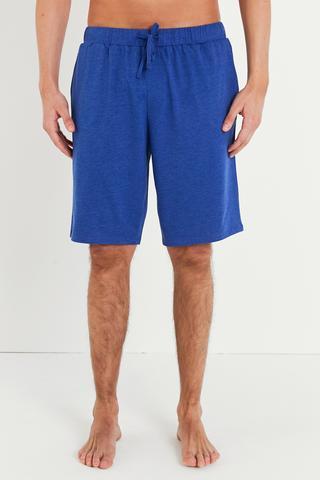 Navy Melange Pantalon Scurt