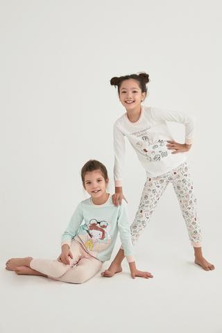 Set Pijama Fetițe Camp Esential 4 Buc