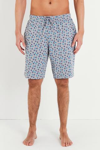 Geometric Printed Pantalon Scurt