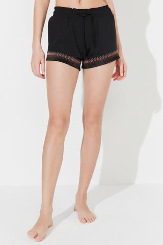 Pantaloni Scuri Trim Detail