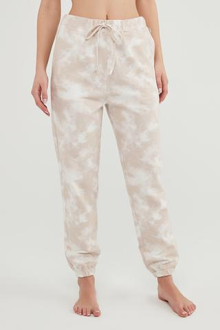 Bu4U Tie Dye Cuff Pantaloni