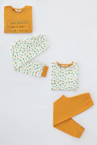 Set Pijama Băieți Camp Checklist 4 Buc