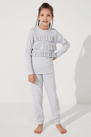 Set Pijama Fetițe Note Frill 2 Buc
