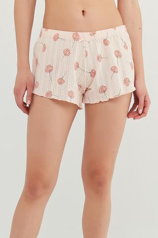 ixia Flowers Pointel Pantalon Scurt