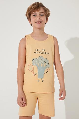 Set Pijamale Barbati Veg-t Broccoli 2Buc