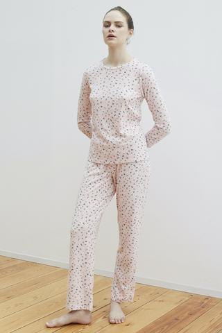 Set Pijama Pink Ditsy