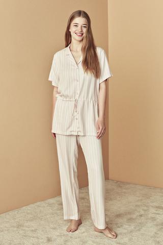 Set Pijama Bridal Pink Stripes
