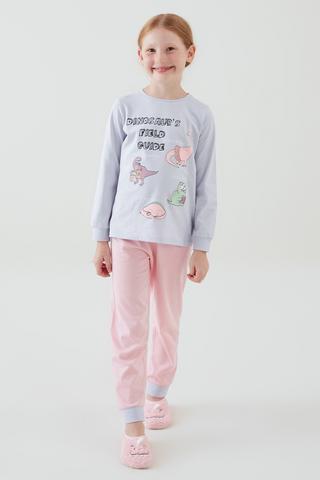 Fetițe Dino Guide Set Pijama