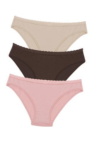 Set Slip Nude Colors 3 Buc