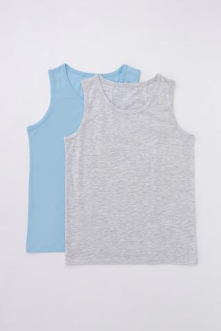Boys Simple Blue 2In1 Maiou