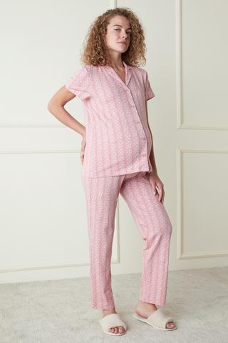 Mama Pink Flowers Set Pijama