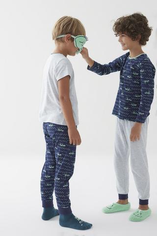 Set Pijama Băieți Skeleton