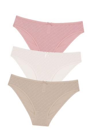 Soft Pointel Nude Colors 3Buc Slip Chilot