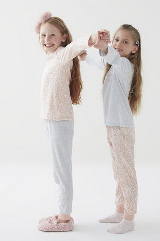 Set Pijama Fetițe Letters 4 Buc