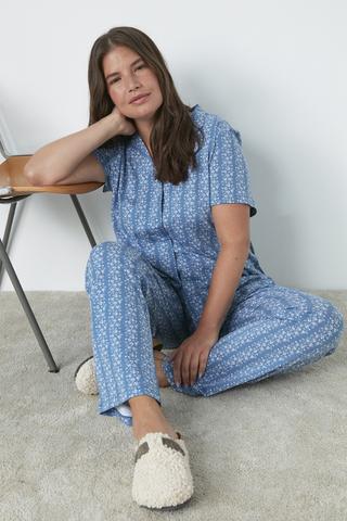 Set Pijama Mama Blue