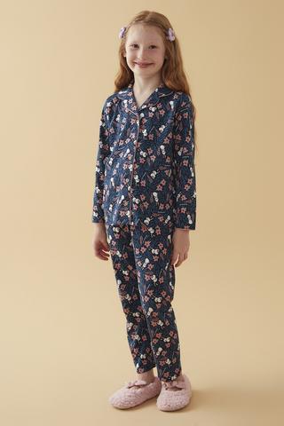 Set Pijama Fetițe Bunny Flower