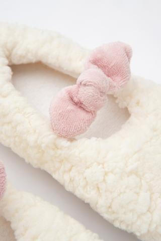 Șosete Scurte Fetițe White Fluffy
