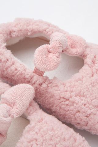 Șosete Scurte Fetițe Pink Fluffy