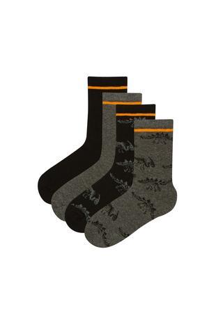 Dark Dino 4in1 Socks
