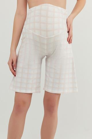 Mama Gingham Uzun Pantalon Scurt