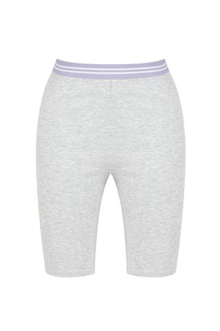 Bu4U Grey Rib Bisiklet  Pantalon Scurt