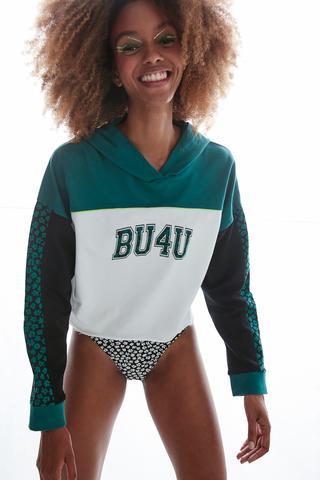 Bu4u Floral Hood Sweatshirt