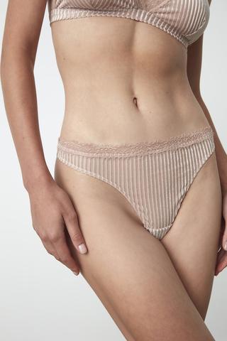 Velvet Thong Bottom